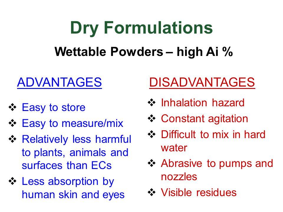 Wettable Powders – high Ai %