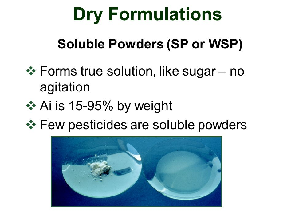 Soluble Powders (SP or WSP)