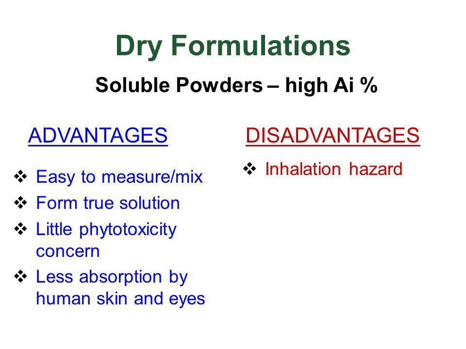 Soluble Powders – high Ai %