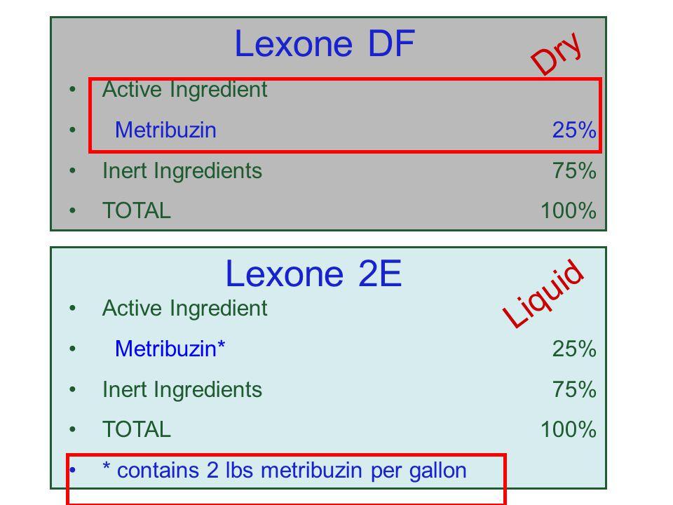 Lexone DF Lexone 2E Dry Liquid Active Ingredient Metribuzin 25%