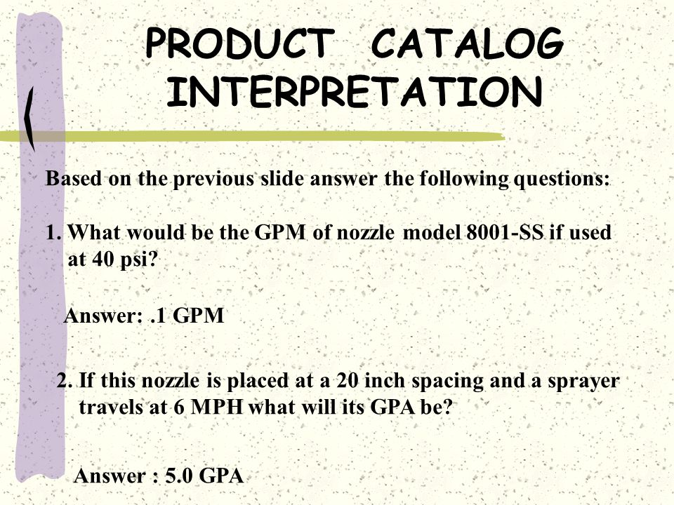 PRODUCT CATALOG INTERPRETATION