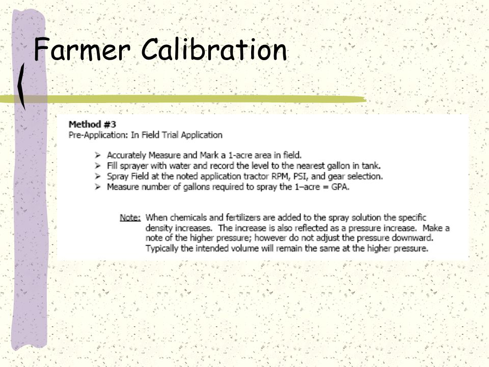 Farmer Calibration