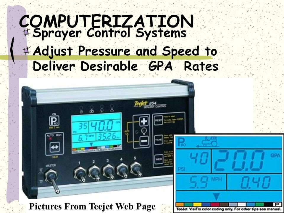 COMPUTERIZATION Sprayer Control Systems