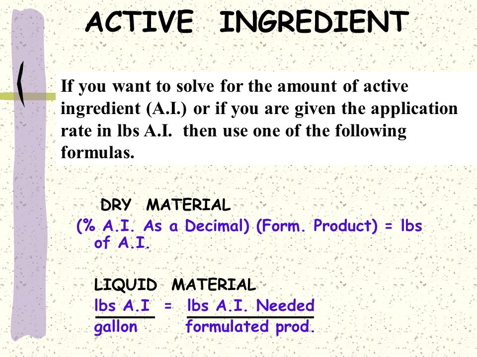 ACTIVE INGREDIENT