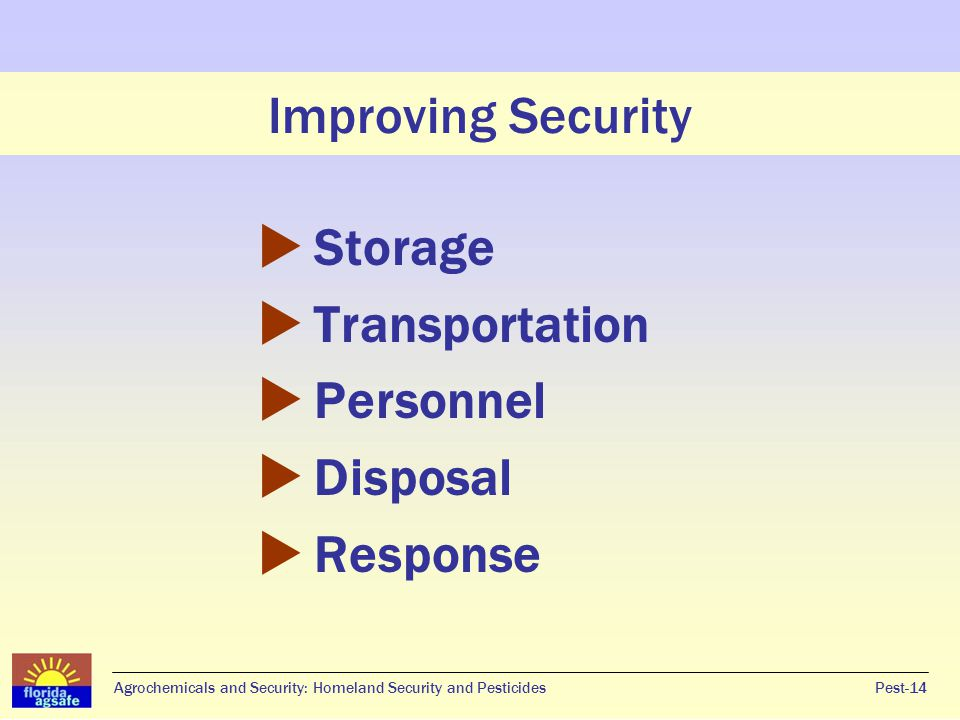 Improving Security Storage Transportation Personnel Disposal Response
