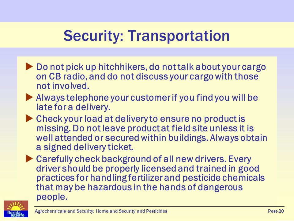 Security: Transportation