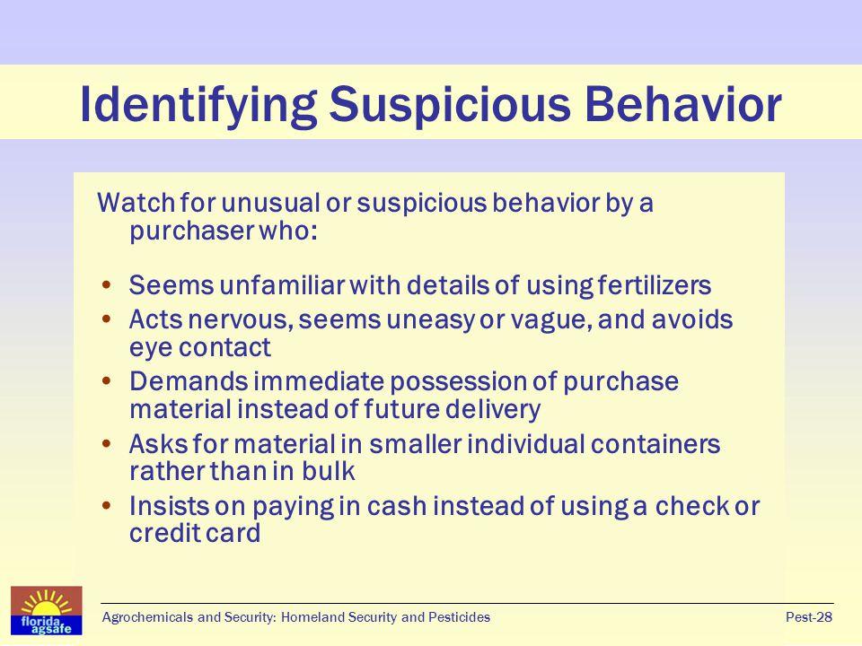 Identifying Suspicious Behavior