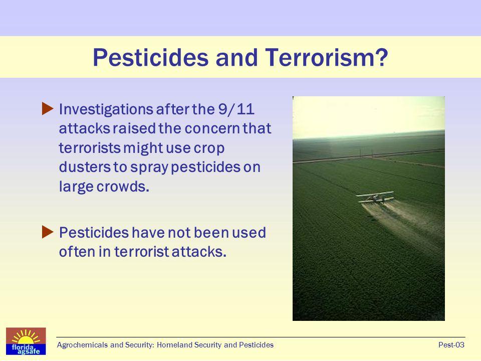 Pesticides and Terrorism