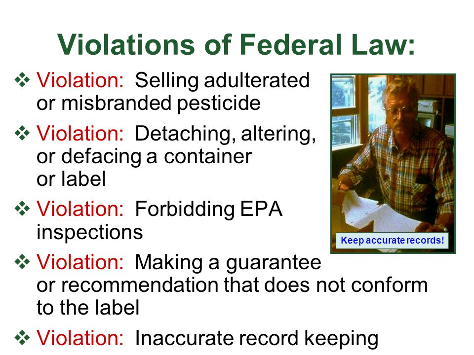 Violations of Federal Law: