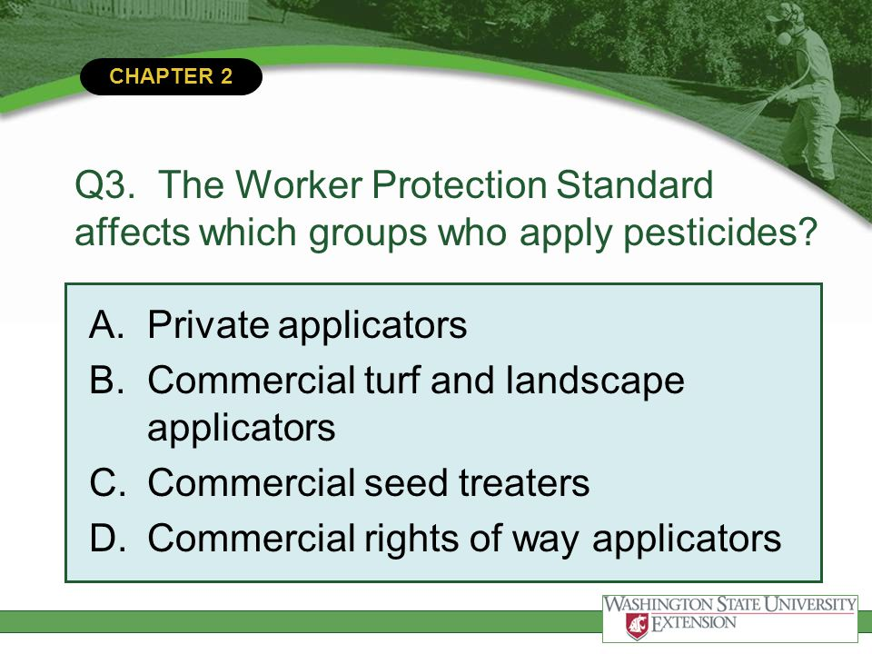 Commercial turf and landscape applicators Commercial seed treaters