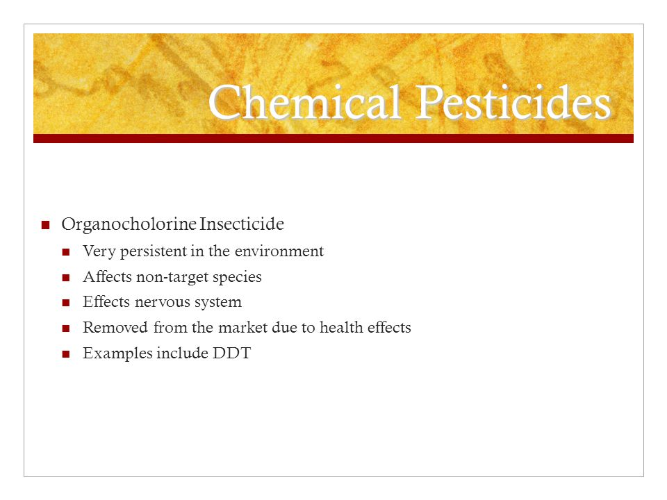 Chemical Pesticides Organocholorine Insecticide