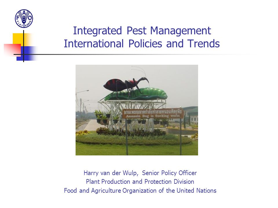 Integrated Pest Management International Policies and Trends