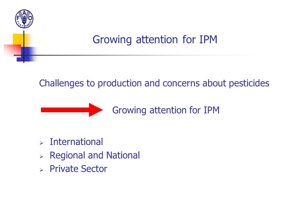 Growing attention for IPM
