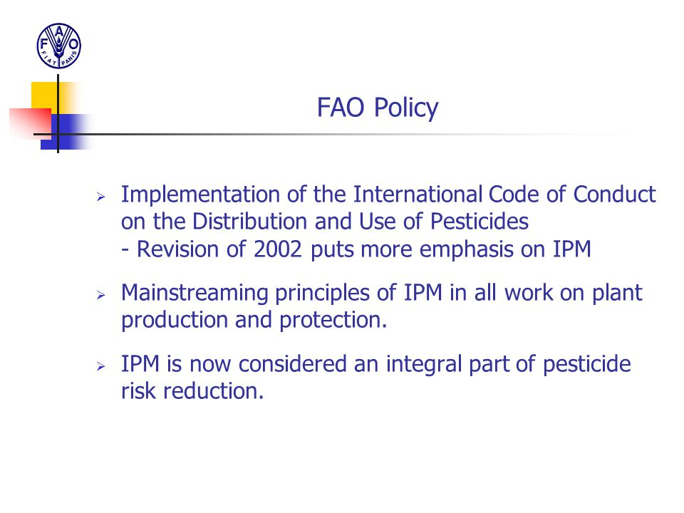 FAO Policy