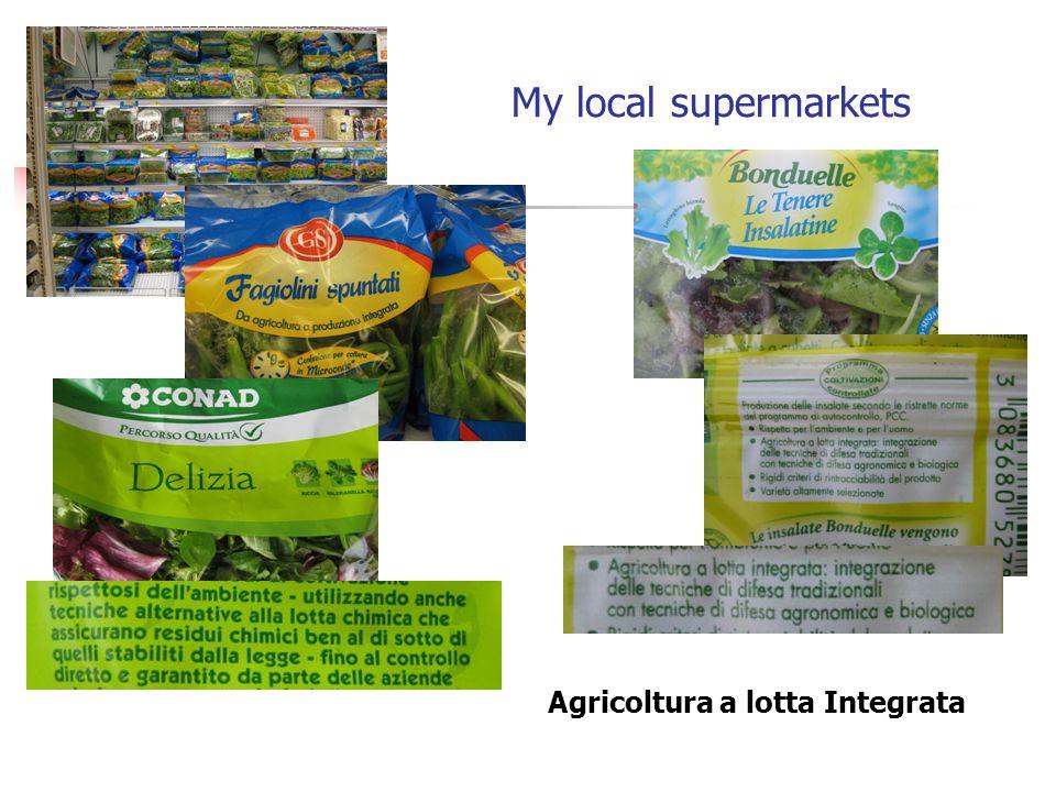 My local supermarkets Agricoltura a lotta Integrata