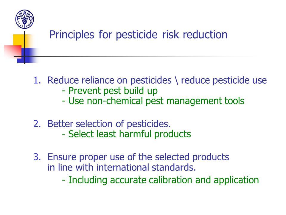Principles for pesticide risk reduction