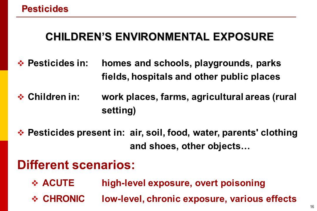 CHILDREN'S ENVIRONMENTAL EXPOSURE