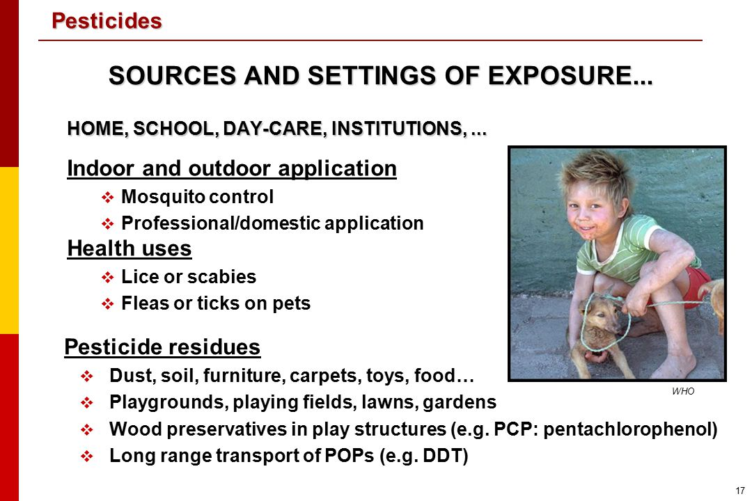 SOURCES AND SETTINGS OF EXPOSURE...
