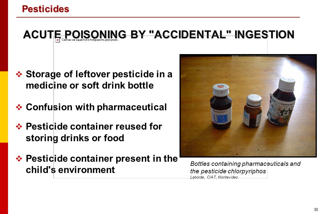 ACUTE POISONING BY ACCIDENTAL INGESTION
