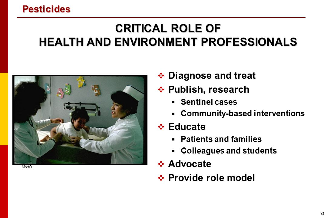 HEALTH AND ENVIRONMENT PROFESSIONALS