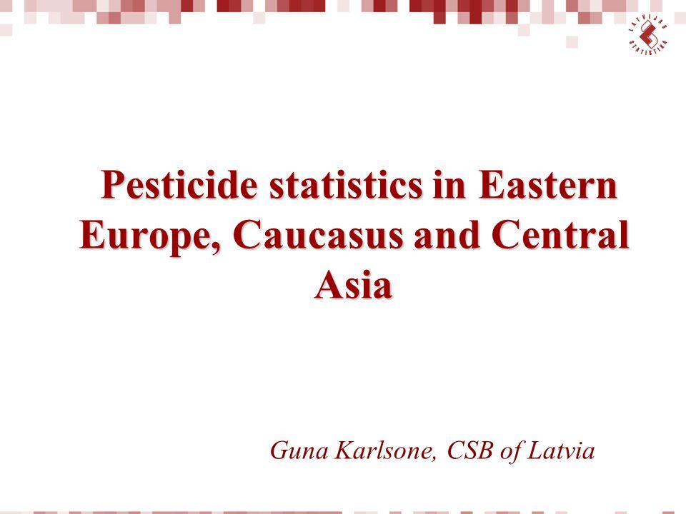 Pesticide statistics in Eastern Europe, Caucasus and Central Asia
