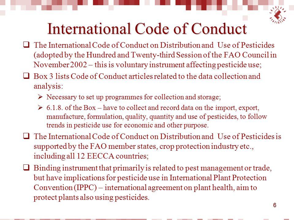 International Code of Conduct