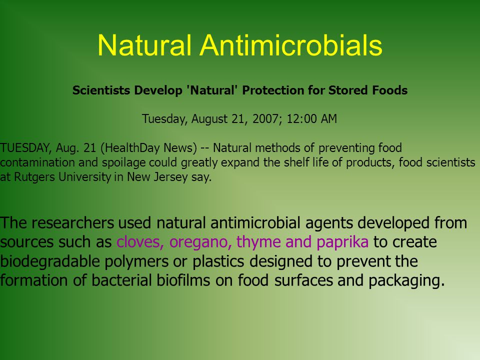 Natural Antimicrobials