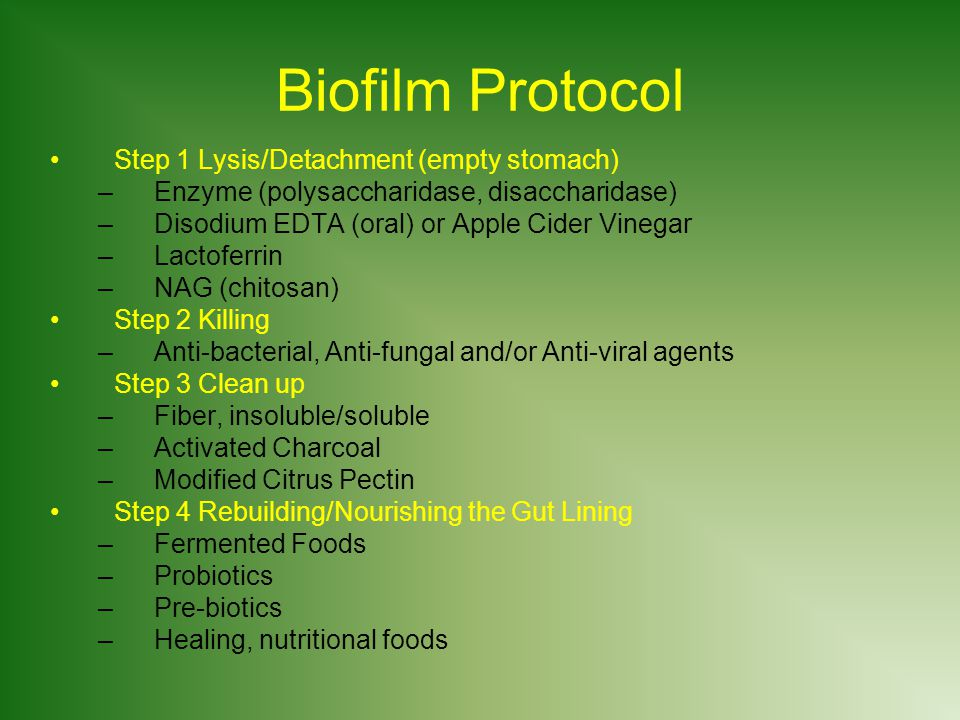 Biofilm Protocol Step 1 Lysis/Detachment (empty stomach)