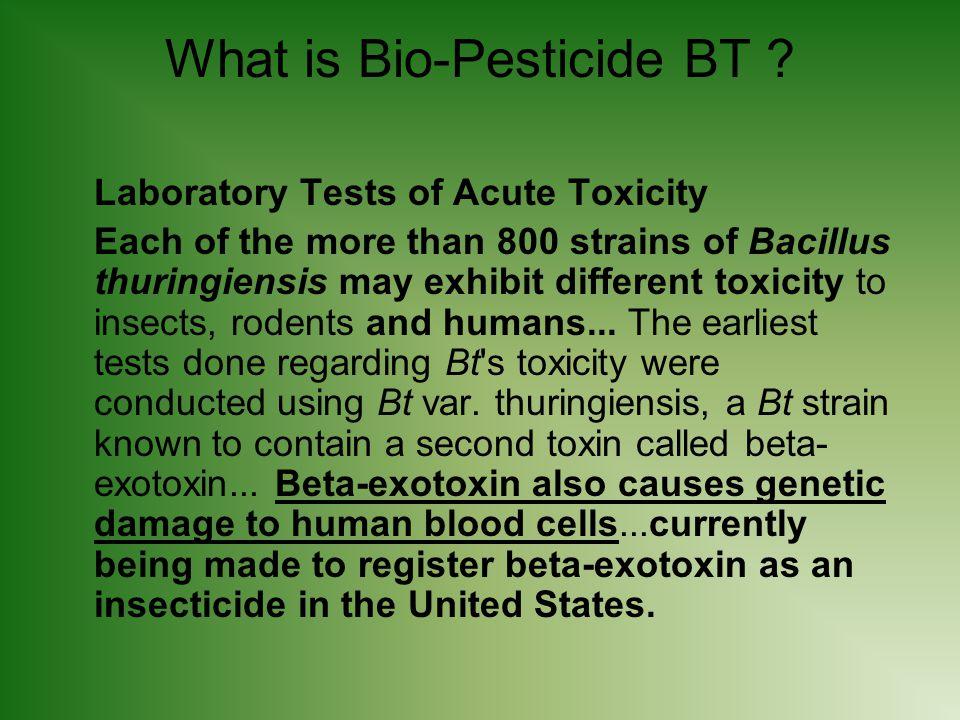 What is Bio-Pesticide BT