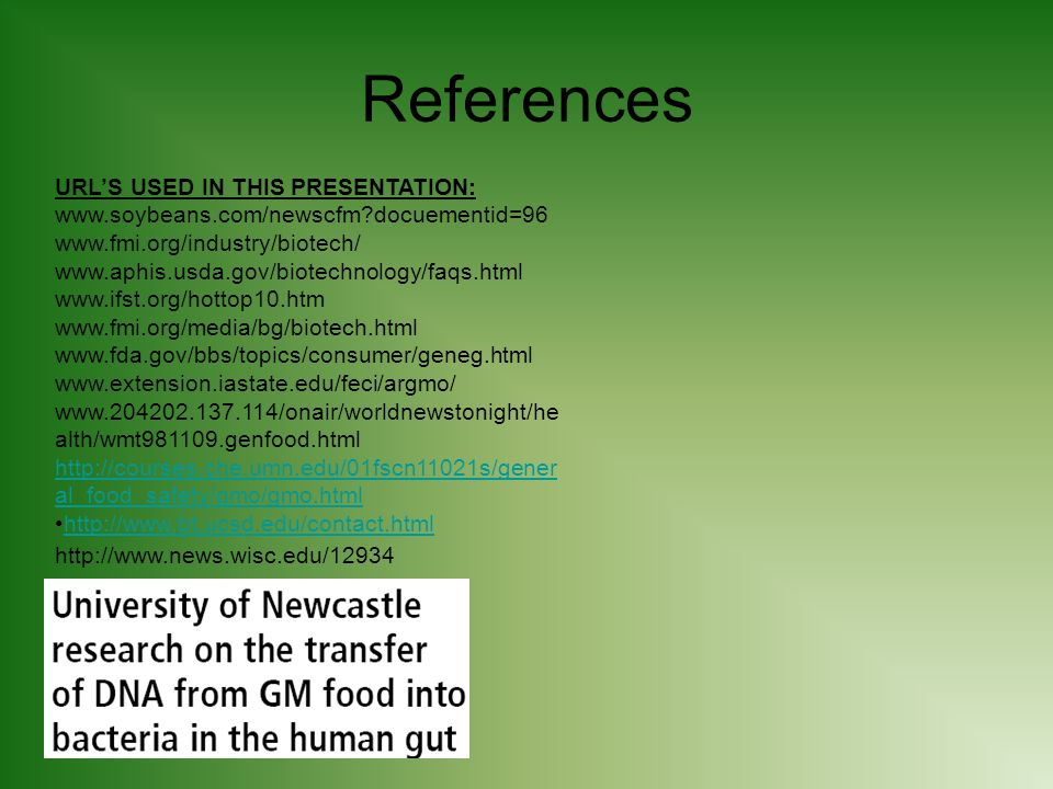 References URL'S USED IN THIS PRESENTATION: