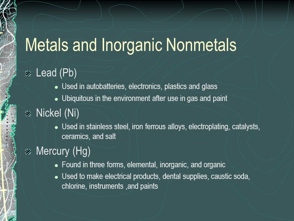 Metals and Inorganic Nonmetals