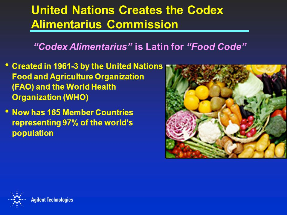 United Nations Creates the Codex Alimentarius Commission