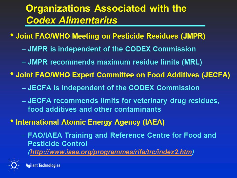 Organizations Associated with the Codex Alimentarius