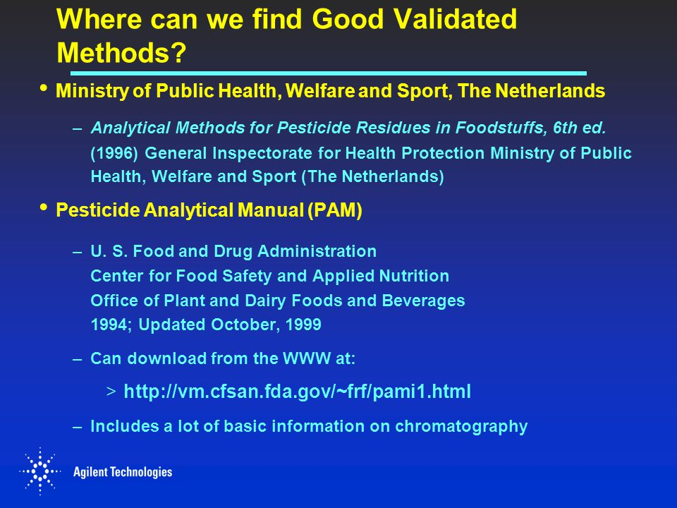 Where can we find Good Validated Methods
