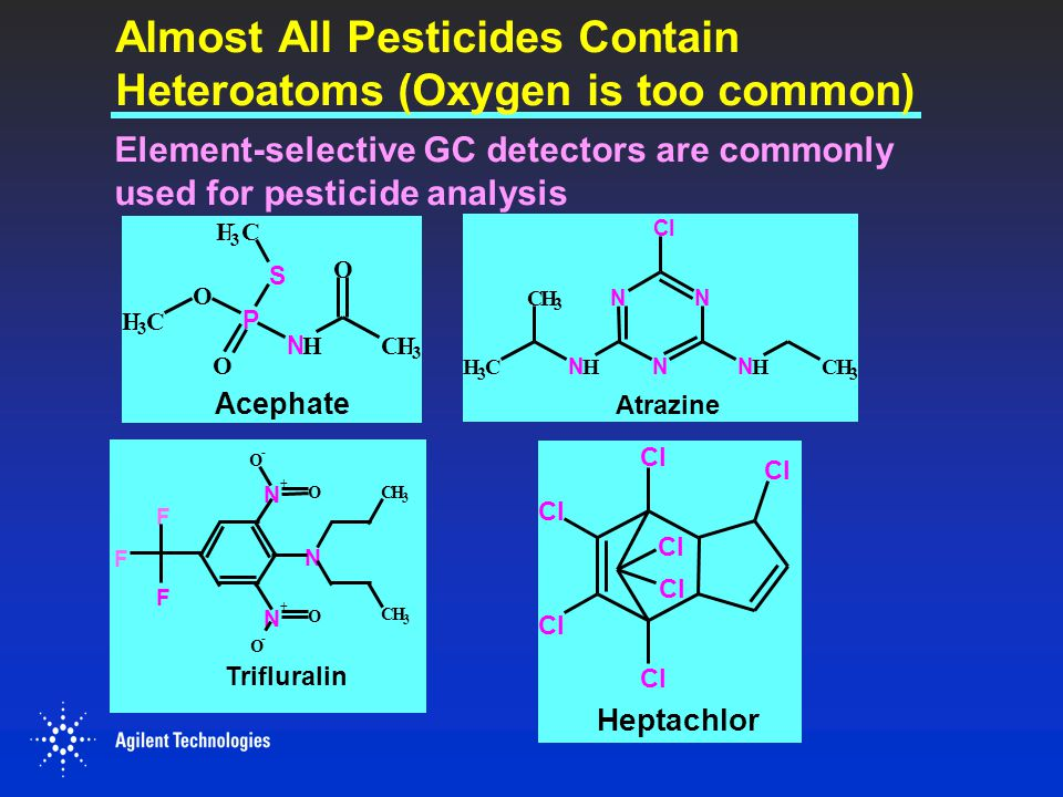 Almost All Pesticides Contain Heteroatoms (Oxygen is too common)