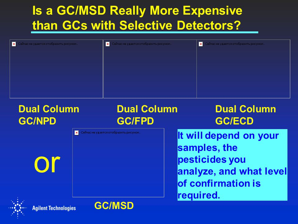 Is a GC/MSD Really More Expensive than GCs with Selective Detectors
