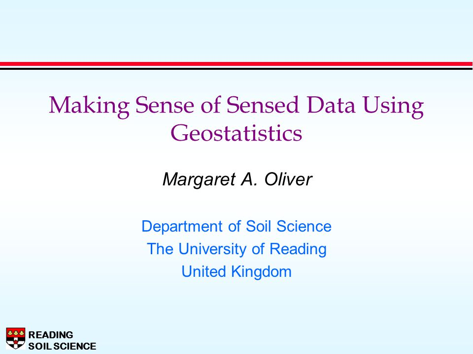 Making Sense of Sensed Data Using Geostatistics