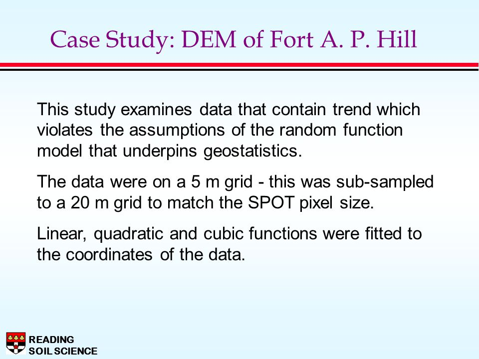 Case Study: DEM of Fort A. P. Hill