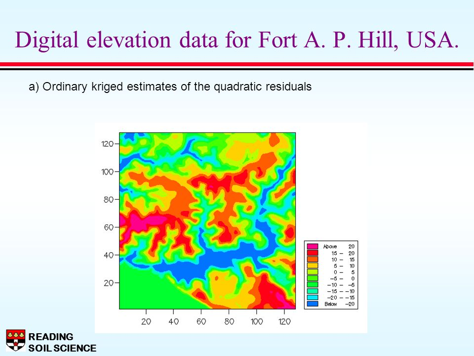 Digital elevation data for Fort A. P. Hill, USA.