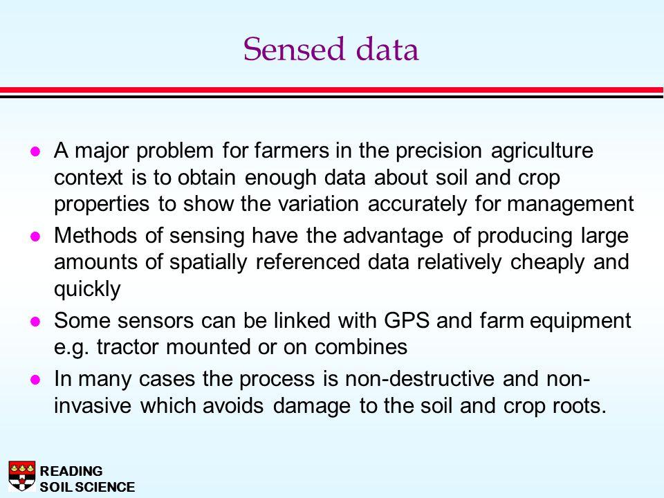 Sensed data