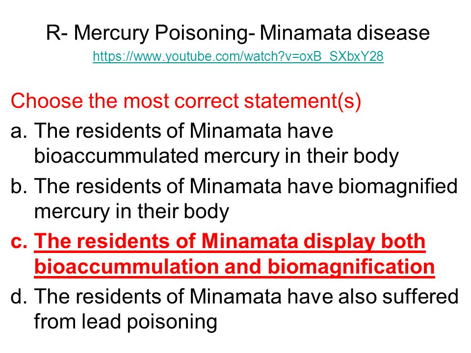 R- Mercury Poisoning- Minamata disease
