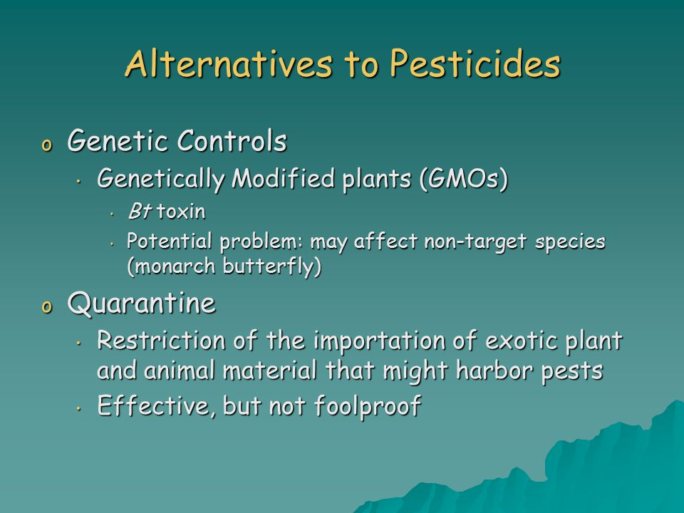 Alternatives to Pesticides
