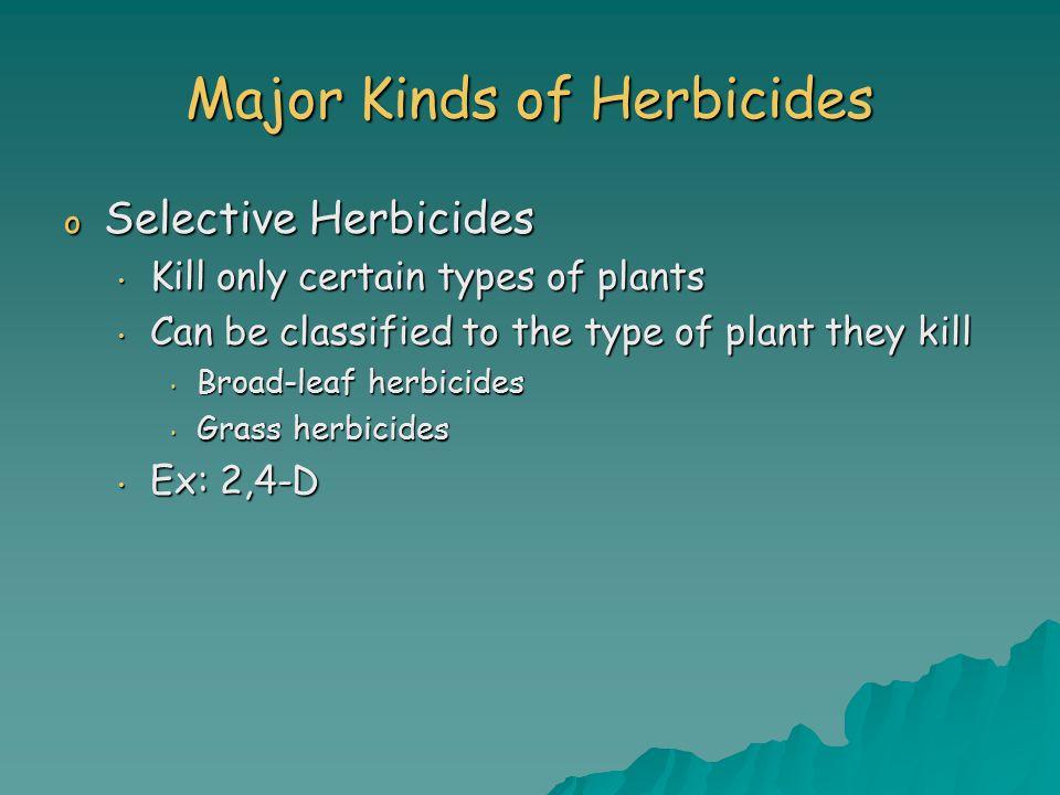 Major Kinds of Herbicides
