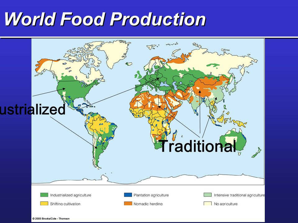 World Food Production Industrialized Traditional