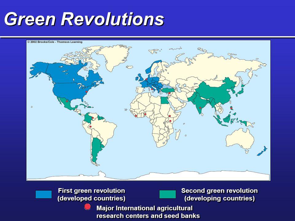 Green Revolutions First green revolution (developed countries)