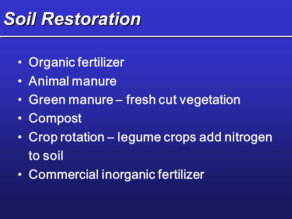 Soil Restoration Organic fertilizer Animal manure