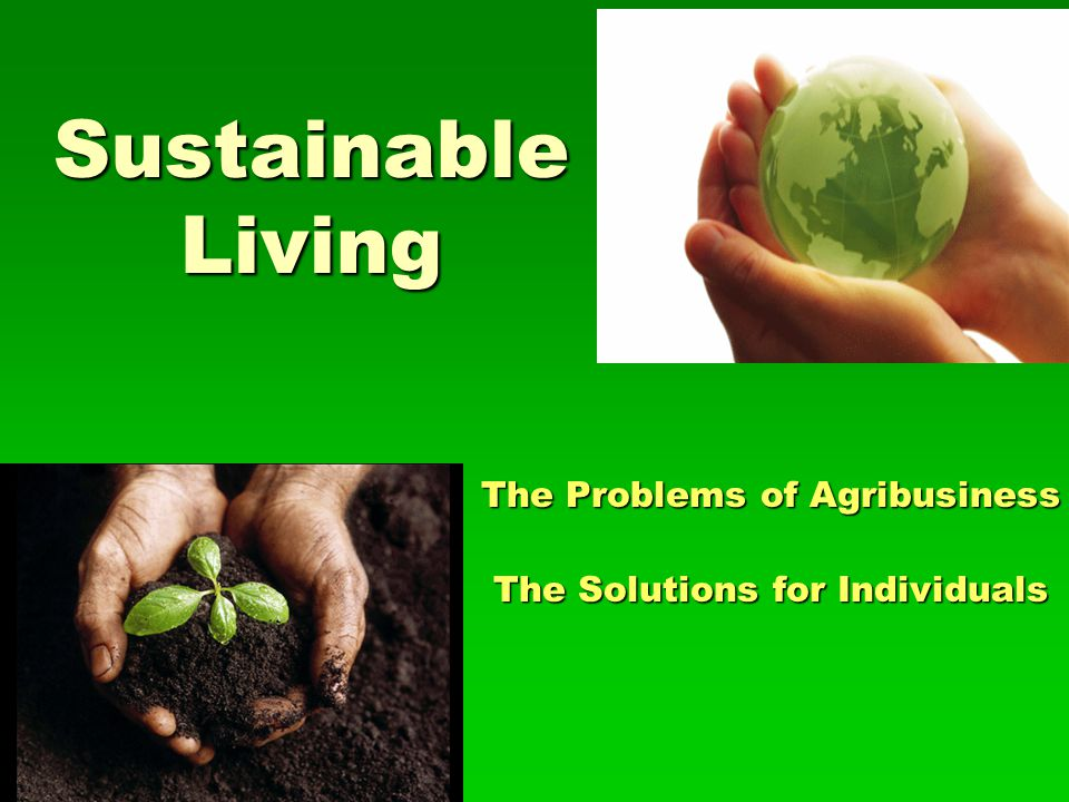 The Problems of Agribusiness The Solutions for Individuals
