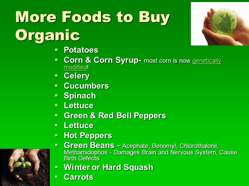 More Foods to Buy Organic