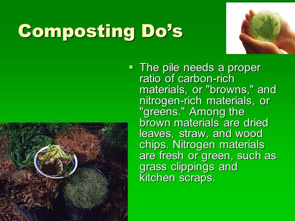 Composting Do's