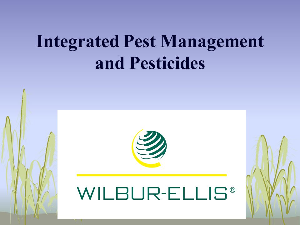 Integrated Pest Management and Pesticides